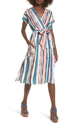 Lost Wander 'S Santorini Faux Wrap Dress Multi Peach