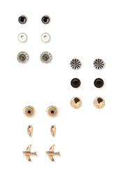 Forever 21 Bird Earring Set Silver Gold