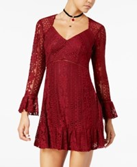 American Rag Juniors' Lace Empire Waist Dress Created For Macy's Red