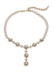 Heidi Daus Simple Faux Pearl Necklace Grey