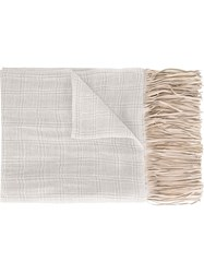 Woolrich Fringed Scarf Nude And Neutrals