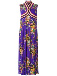 I'm Isola Marras Floral Print Kimono Dress Women Viscose 42 Pink Purple