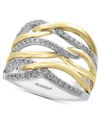 Effy Diamond Two Tone Ring 3 8 Ct. T.W. In 14K Gold And White Gold Two Tone