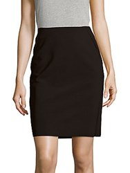 Saks Fifth Avenue Tech Stretch Solid Pencil Skirt Black