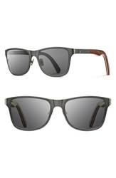 Men's Shwood 'Canby' 54Mm Titanium And Wood Sunglasses Gunmetal Walnut