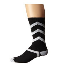 Wigwam Wave Crew 1 Pair Pack Black White Crew Cut Socks Shoes