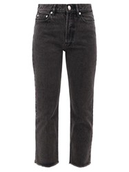 A.P.C. Rudie Cropped Straight Leg Jeans Black