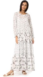 Warm Holiday Dress White Floral Mix