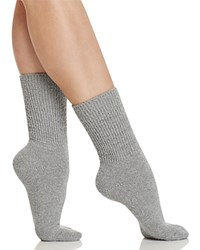 Free People Cece Metallic Socks Grey