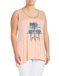Jessica Simpson Plus Endless Summer Graphic Tee Orange