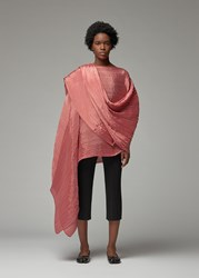 Issey Miyake Pleats Please 'S Madame T September Scarf In Coral Rose 100 Polyester