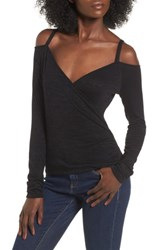 Leith Women's Wrap Front Off The Shoulder Top