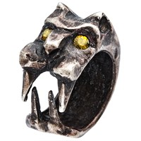 By Natalie Frigo Sabered Tooth Tiger Ring Silver