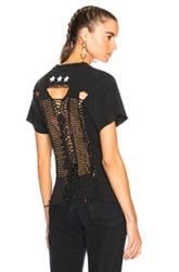 Icons Assorted Braided Back Concert Tee In Black
