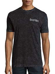 Affliction Printed Textured Tee Black