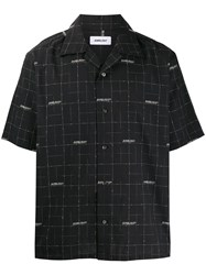 Ambush Short Sleeved Wool Shirt Black