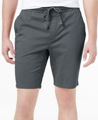 American Rag Men's Classic Fit Stretch Solid Drawstring Shorts Only At Macy's Onyx