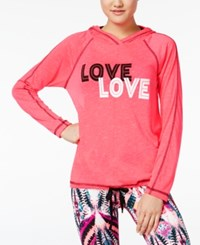 Material Girl Active Cutout Back Graphic Hoodie Only At Macy's Flashmode