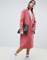 Na Kd Tie Sleeve Tailored Coat In Pink