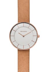 Skagen Women's Gitte Leather Strap Watch 38Mm