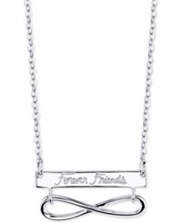 Unwritten Forever Friends Infinity 18 Pendant Necklace In Sterling Silver