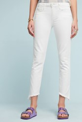 Anthropologie Paige Hoxton Low Rise Skinny Ankle Jeans White