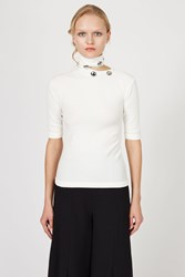 Ann Sofie Back Button Tee Creme