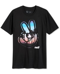 Neff Men's Graphic Print T Shirt Black