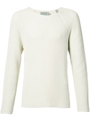 Vince Knitted Top Men Cotton S White