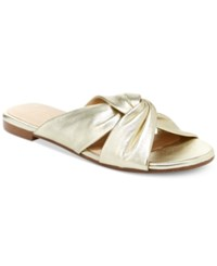 Nanette Lepore By Vanda Knotted Sandals Only At Macy's Women's Shoes Gold