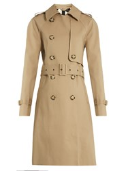 Stella Mccartney Aylin Bonded Cotton Trench Coat Camel