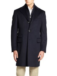 Corneliani Wool Coat Black