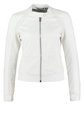 Noisy May Nmhonest Faux Leather Jacket Snow White