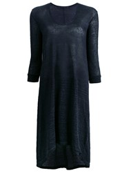 Transit Sheer Sweater Dress Blue