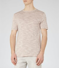 Reiss Beach Mens Tonal Stripe T Shirt In Pink