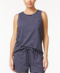 Nautica Striped Pajama Tank Top Navy Stripe