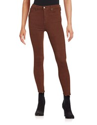 Free People Peyton Jacquard Skinny Pants Wine