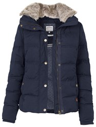 Fat Face Poppy Puffer Jacket Technical Navy