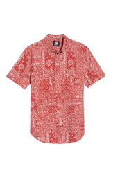 Reyn Spooner Aloha Bandana Regular Fit Sport Shirt Red