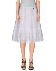 Scee By Twin Set Skirts Knee Length Skirts Women White