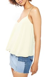 Topshop Women's Rouleau Swing Camisole Light Yellow