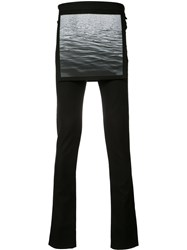 Raf Simons Waves Overlay Skinny Trousers Black