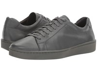 Vince Slater Leather Sneaker Graphite Leather Men's Lace Up Casual Shoes Silver