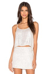 Mlv Britney Sequin Crop Top Ivory