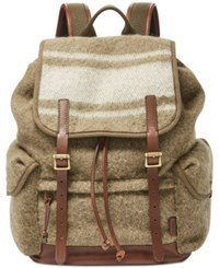 Fossil Men's Defender Wool Rucksack Olive