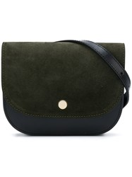 Closed Snap Fastened Belt Bag Green