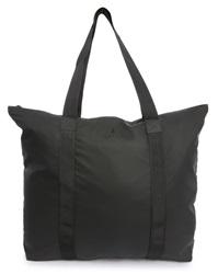 Rains Black Waterproof Tote Bag