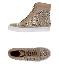 Jeffrey Campbell High Tops And Trainers Dove Grey
