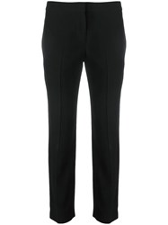 Alexander Mcqueen Cropped Tailored Trousers Black