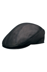 Stetson Leather Driving Cap Black